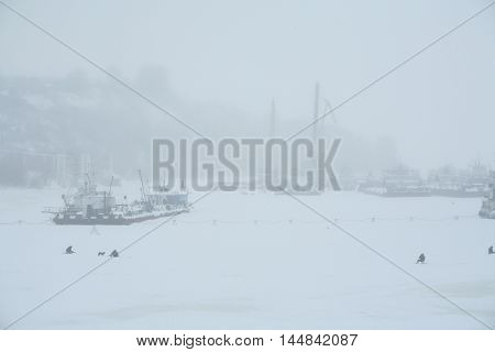 Snow Storm In Port