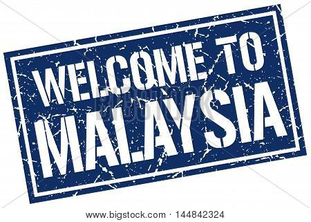 welcome to Malaysia. stamp. grunge square sign