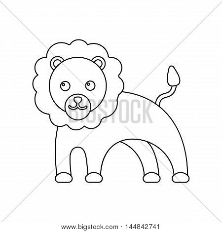 Lion line icon. Illustration for web and mobile.