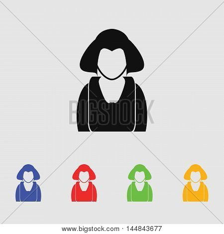 Business woman vector icon for web and mobile.