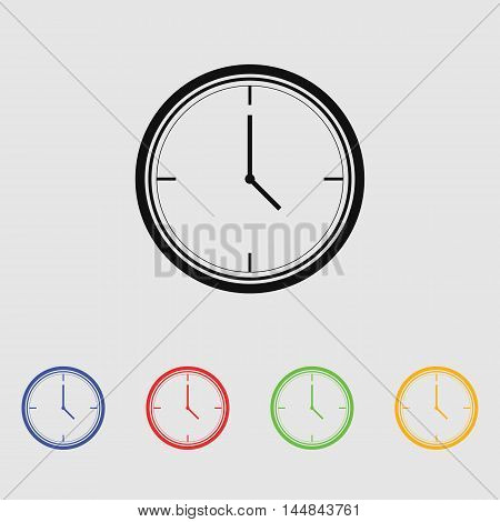 Clock vector icon for web and mobile.