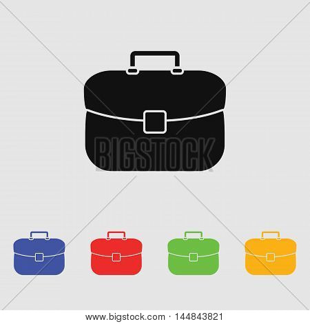 Briefcase icon vector illustration. Flat design style