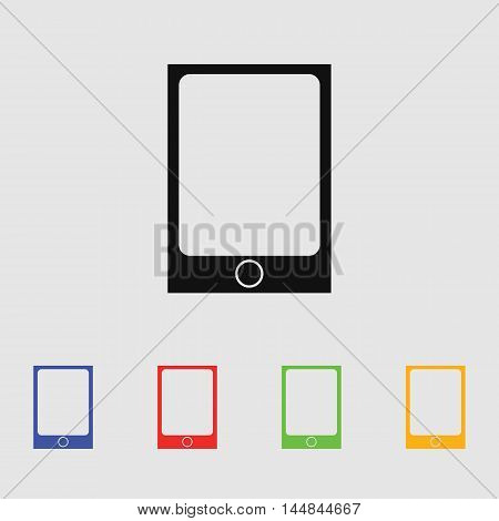 Tablet vector icon for web and mobile