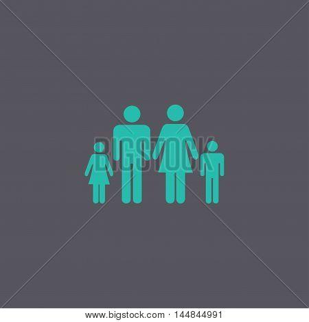 Family Icon. Flat Design Style Eps 10.