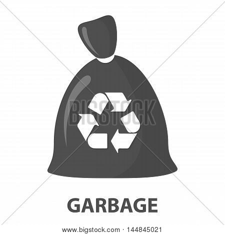 Garbage bag cartoon icon. Illustration for web and mobile.