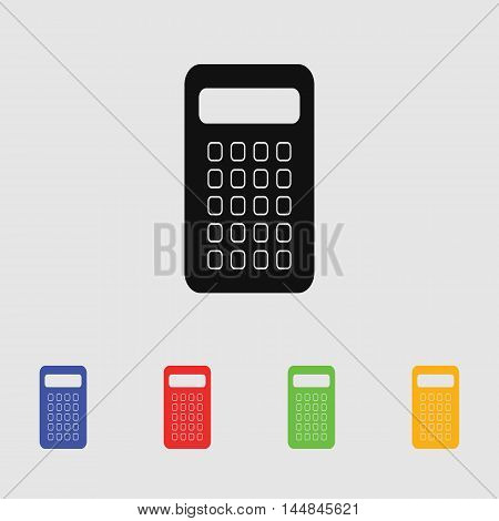 Vector calculator vector icon for web and mobile.