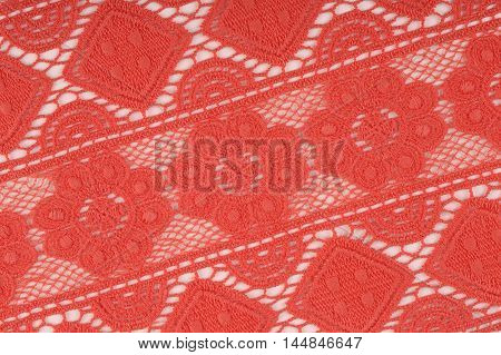 close -up fragment texture lace coral studio