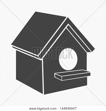 Birdhouse icon of vector illustration for web and mobile design