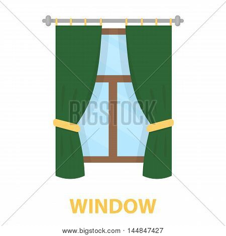 Curtain icon of vector illustration for web and mobile design