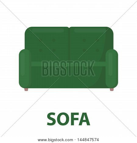 Sofa icon of vector illustration for web and mobile design