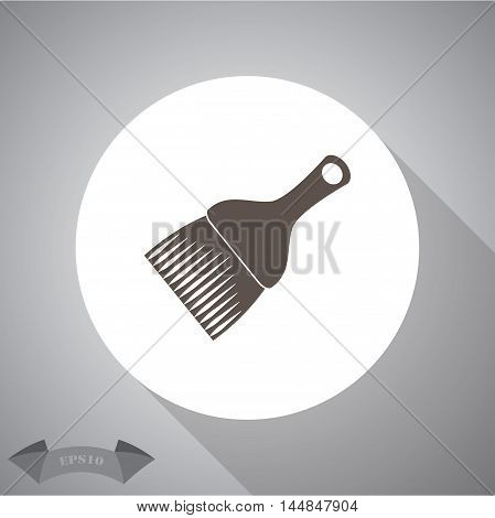 Paint brush . vector icon for web and mobile.