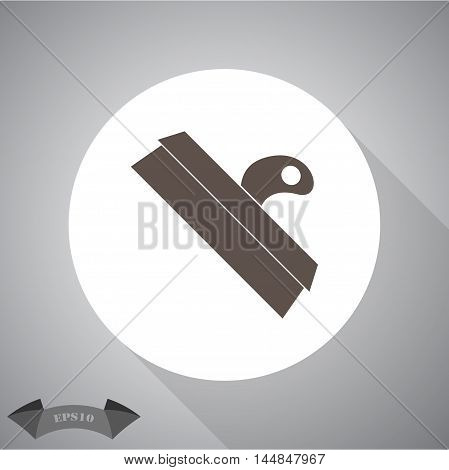 Wide spatula tool black silhouette icon with broad flexible blade