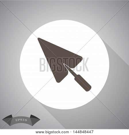 Simple icon trowel. vector icon for web and mobile.
