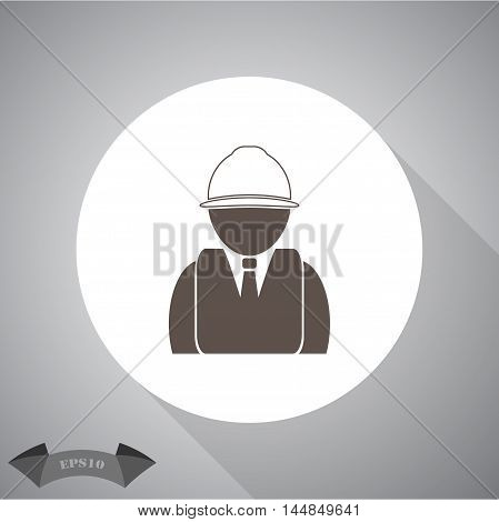 Engineer vector  vector icon for web and mobile.