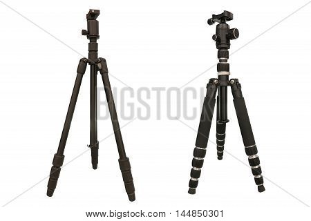 tripod for camera isolated on a white background
