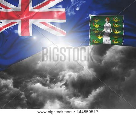 British Virgin Islands flag on a bad day