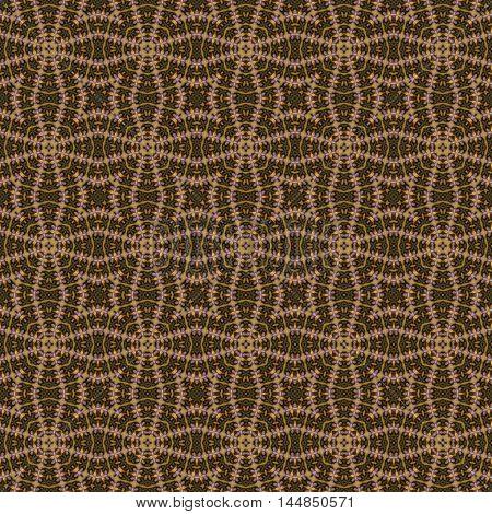 Brown kaleidoscopic tribal seamless pattern design image