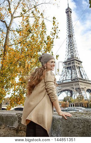 Woman Looking Into Distance And Exploring Attractions In Paris