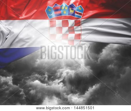 Croatia flag on a bad day