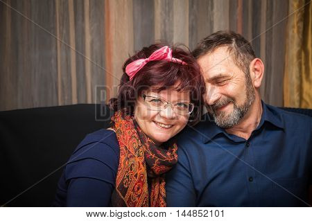portrait of a mature couple they are in love and happy