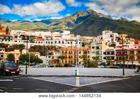 Candelaria major square a famous touristic town in Tenerife Canary islands Spain