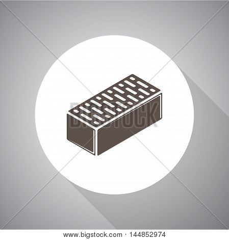 Brick vector icon for web and mobile