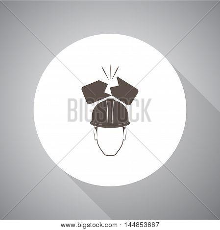 broken brick helmet  vector icon for web and mobile.