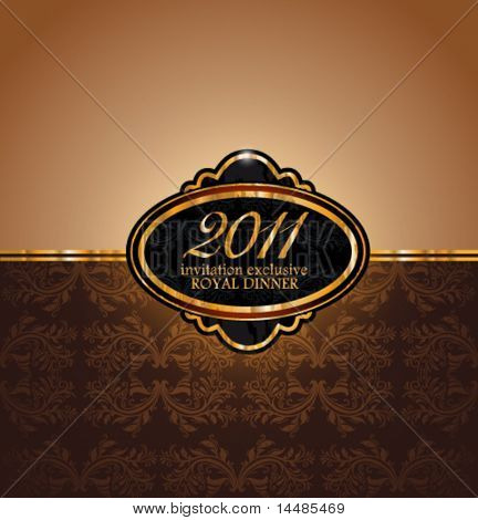 Royal Dinner Invitation Flyer for 2011 New Year Event