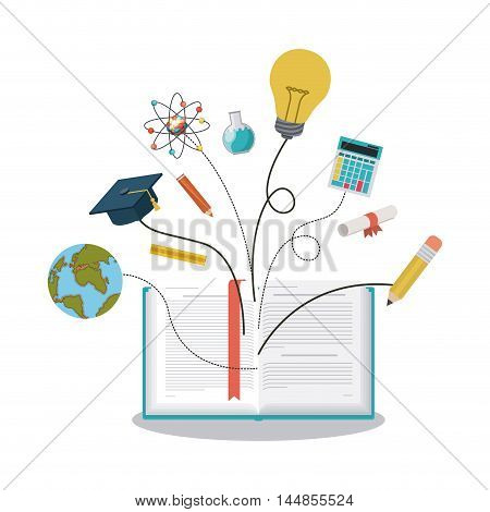education supplies concept isolated icon vector illustration design