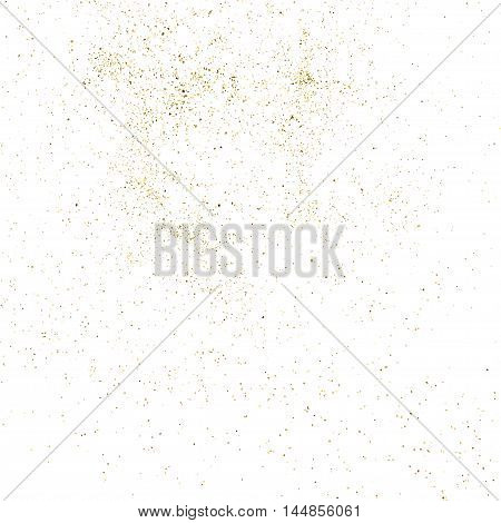 Gold Glitter Texture Isolated On White.