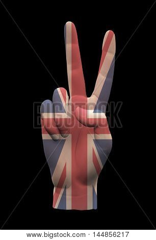 UK Peace Sign  3D Rendered