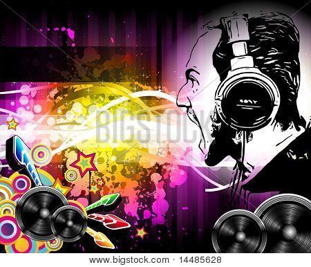 Alternative Diskothek Musik Flyer mit attraktiven Regenbogenfarben