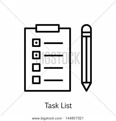 Vector Illustration Of Project Management Icon On Task List And Reminder In Trendy Flat Style. Project Management Isolated Icon For Web Mobile And Infographics Design Eps10.