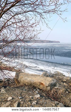 Ice Drift On The River