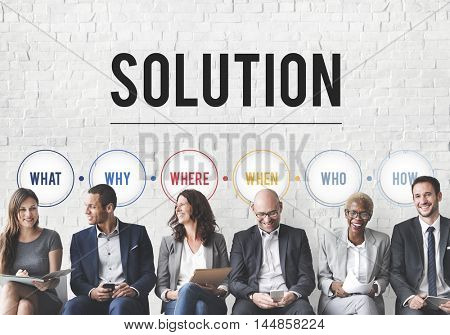 Solution Problem Solving Share Ideas Concept