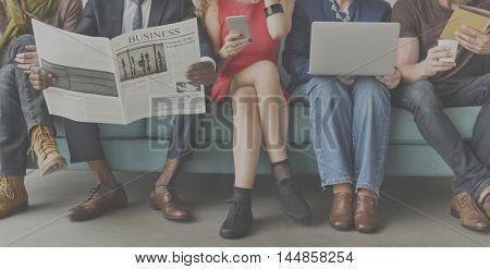 African Descent Colleagues Sofa Friends Concept