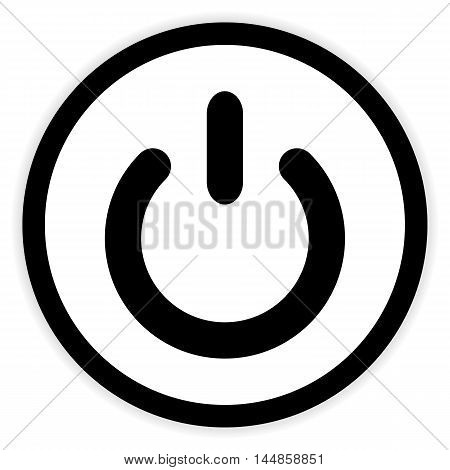 Power symbol button on white background. Vector illustration.