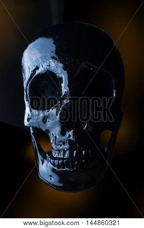 Terrifying halloween skull for October holiday background