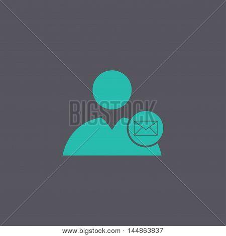 User Icon, Envelope Mail , Vector Illustration.