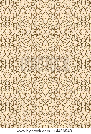 Seamless stellar pattern in Arabian style. Background stars with seamless pattern in islamic style. Vector illustration