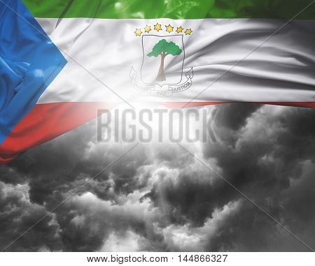 Equatorial Guinea flag on a bad day