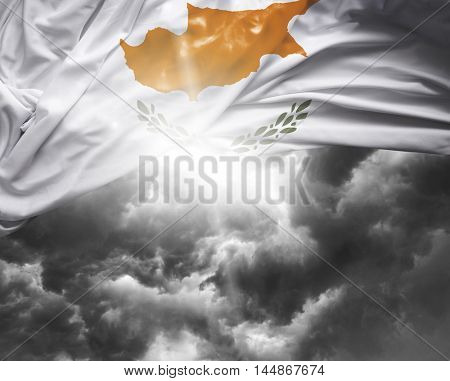 Cyprus flag on a bad day