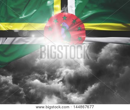 Dominica flag on a bad day