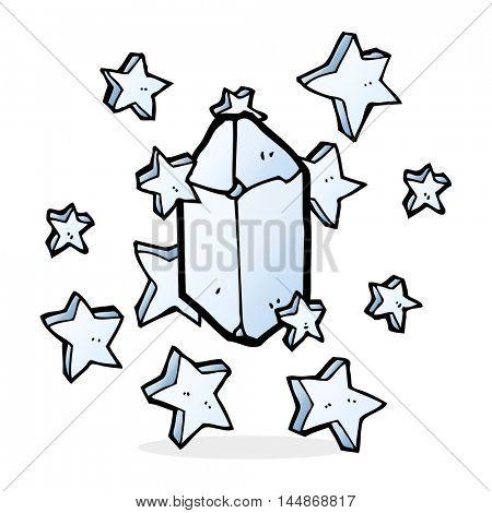 cartoon crystal