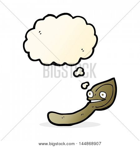 cartoon spoon with thought bubble