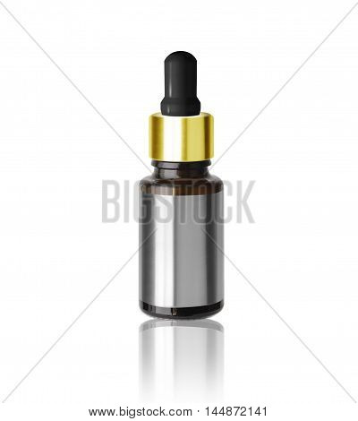 Medical (cosmetic) container with an eyedropper drops. With clipping path