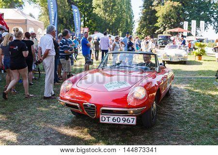 Potsdam Germany - August 27 2016: Retro car at the open motor Rally Hamburg-Berlin Klassik the date of August 25-27