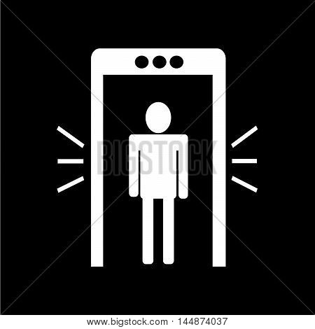 an images of Metal detector icon illustration design