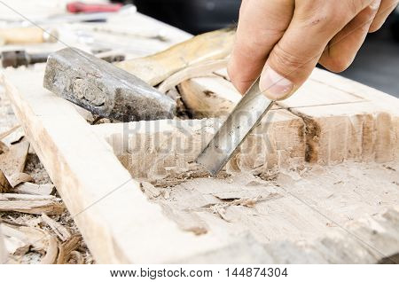 joinery tools - making wooden box by hand tools