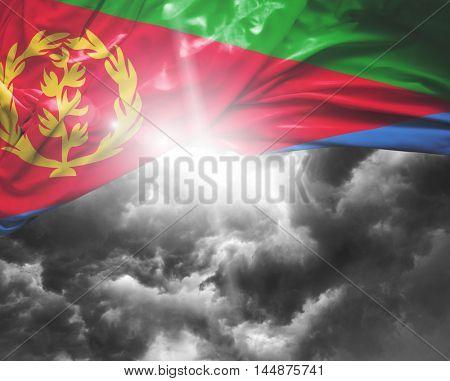 Eritrea flag on a bad day